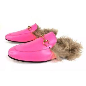 Gucci Princetown Horsebit Lamb Fur Men Mule Loafer